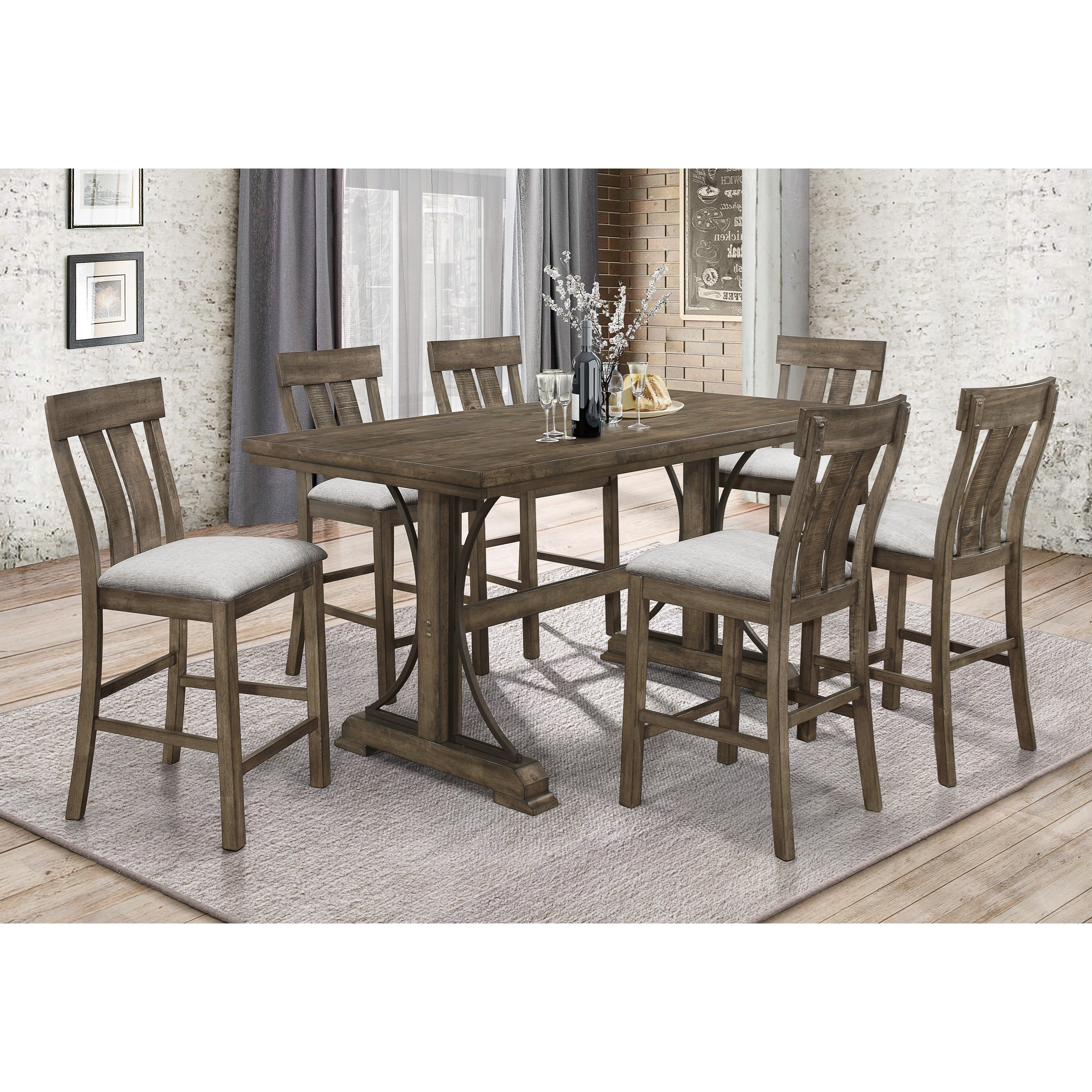 Crown Mark QuincyCounter Height Dining Set ...