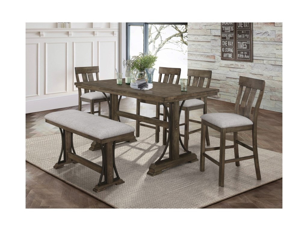 Crown Mark QuincyCounter Height Table Set