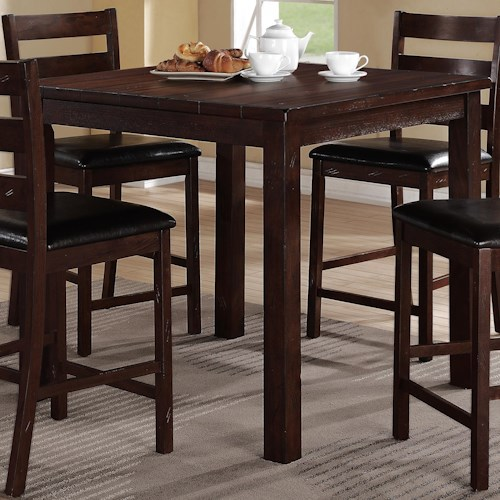 Crown mark quinn square counter height table lindys furniture crown mark quinn square counter height table watchthetrailerfo