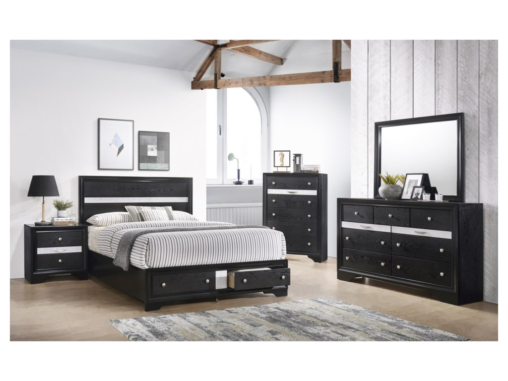 Crown Mark RegataQueen Bedroom Group