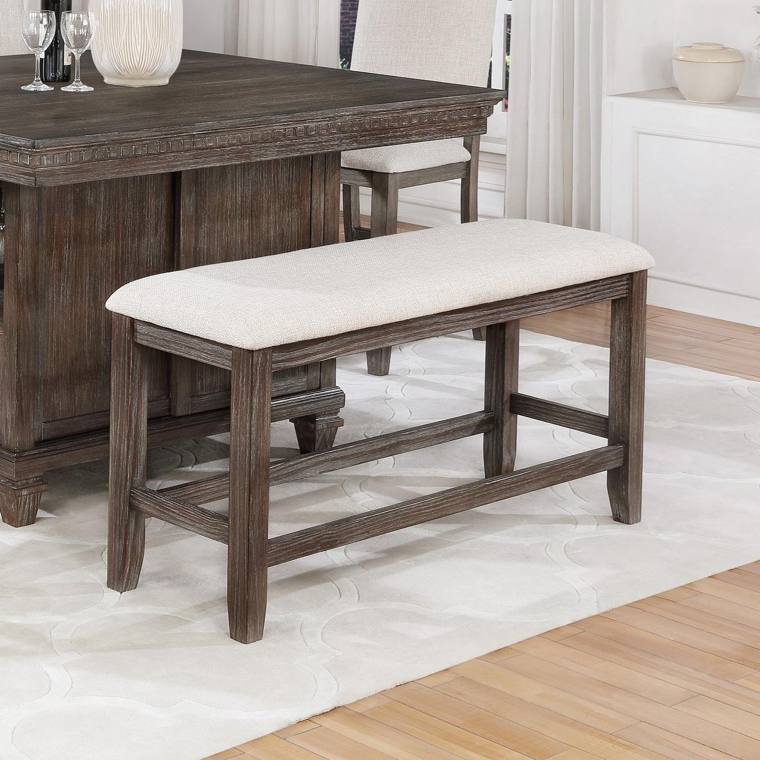 Crown Mark Regent Transitional Counter Height Dining Bench