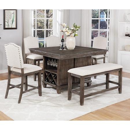 6 Piece Counter Dining Set