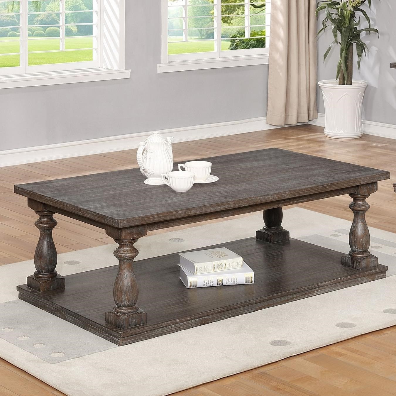 Charmant Crown Mark Regent Coffee Table With Four Casters And Turned Legs