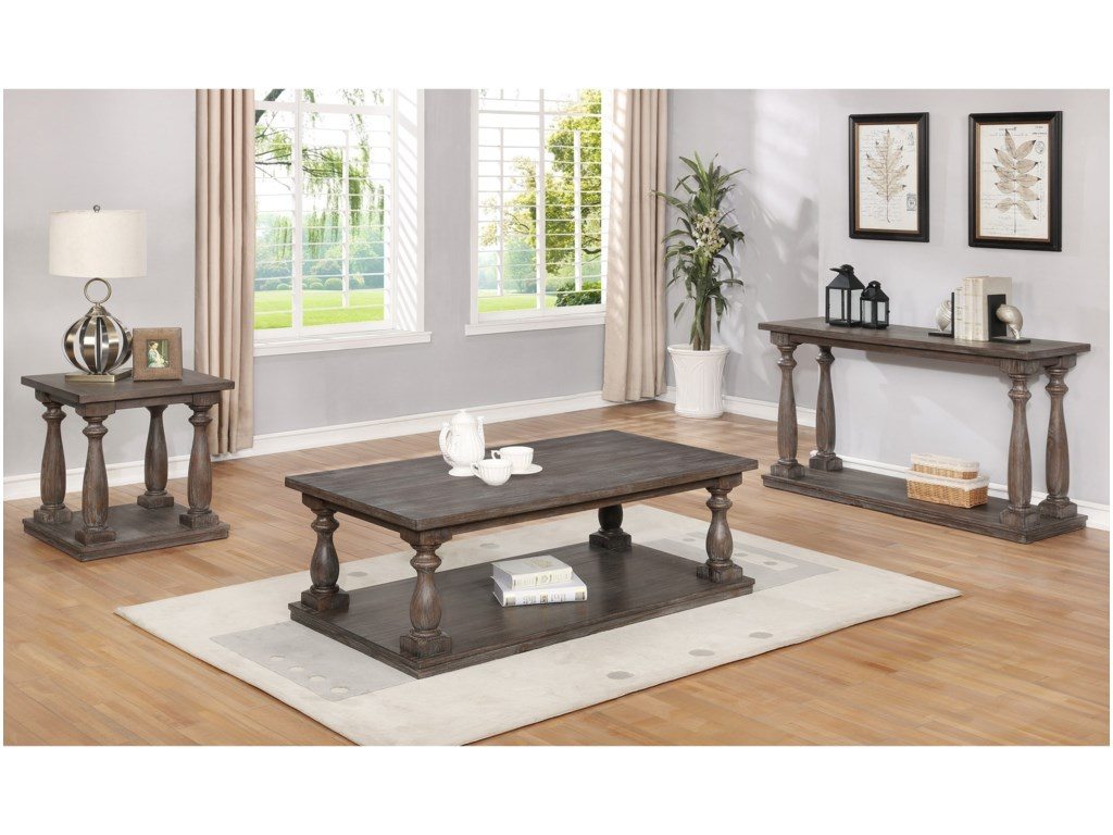 Crown Mark RegentCoffee Table with Four Casters