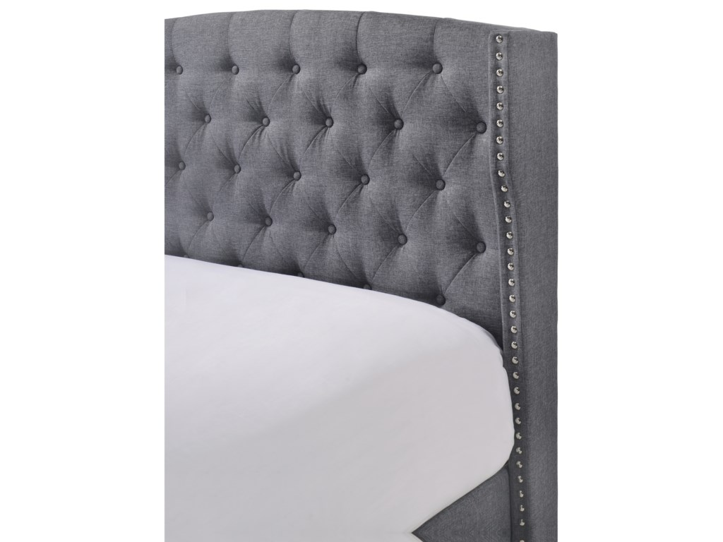 Crown Mark RosemaryKing Upholstered Bed