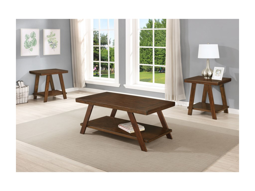Crown Mark Samhorn3-Piece Occasional Table Set