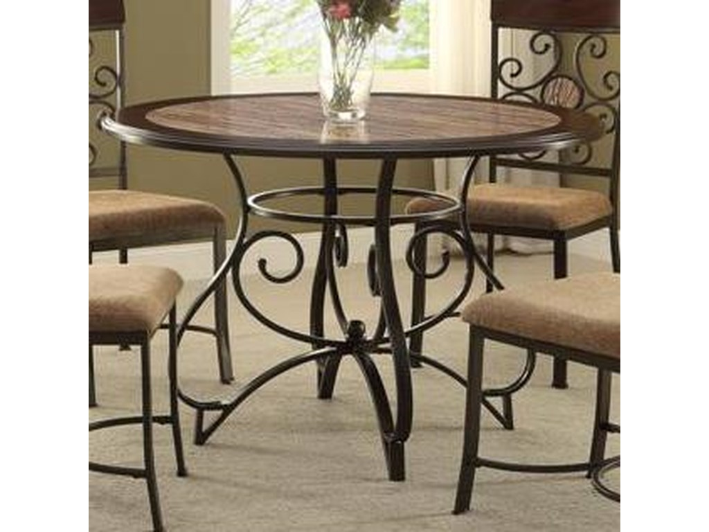 Sarah Casual Dining Table with Scoll Design by Crown Mark at Household  Furniture