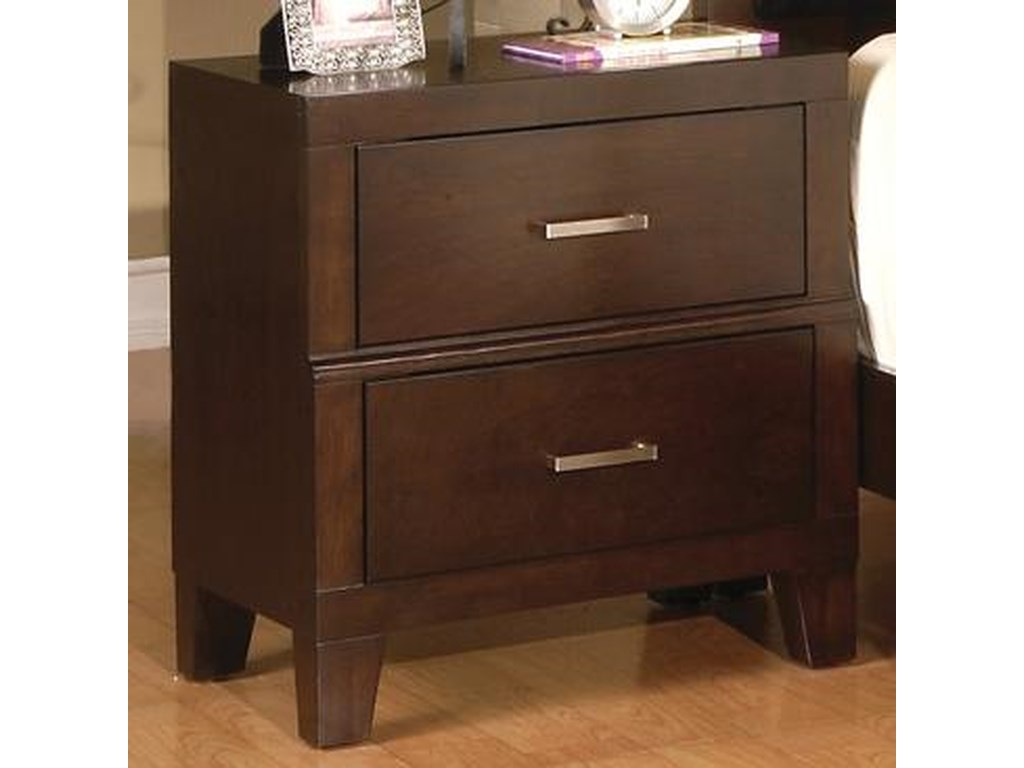 Crown Mark Serena2 Drawer Night Stand