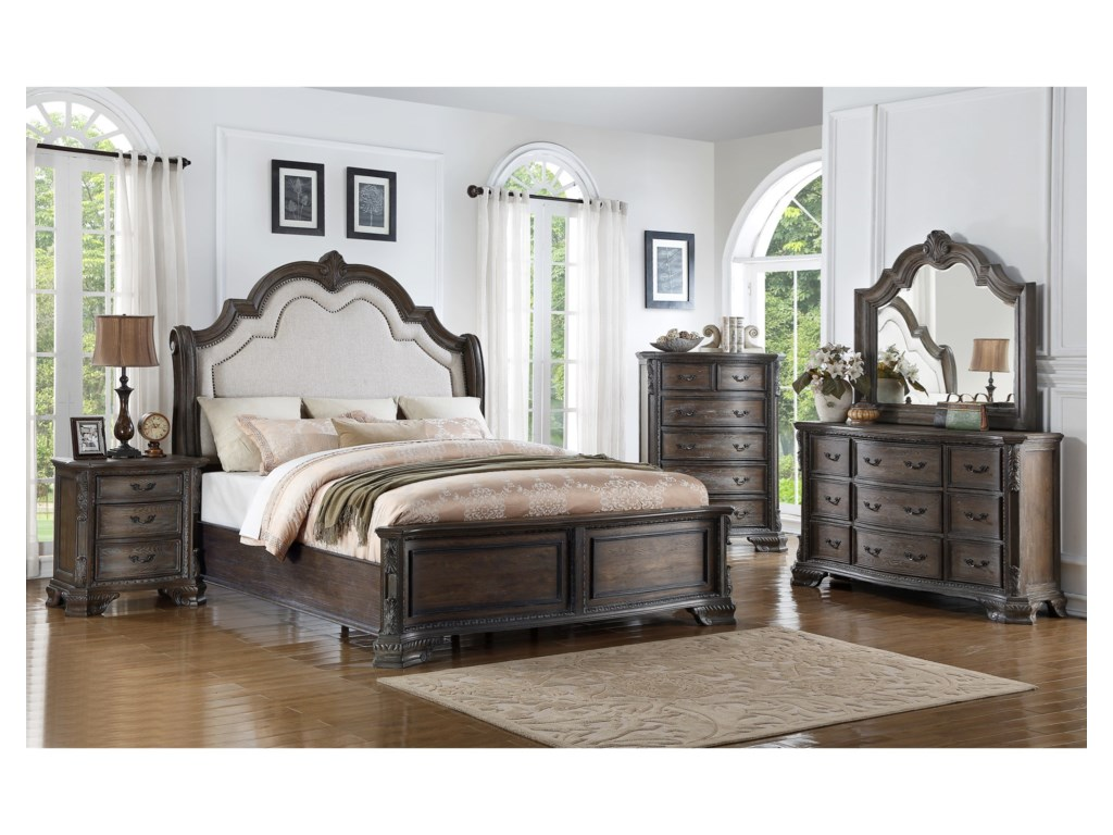Crown Mark SheffieldKing Bedroom Group