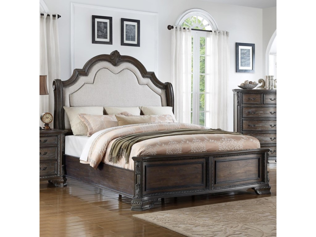 00bf717cdf Home Bedroom Furniture Panel Beds Crown Mark Sheffield Queen Panel Bed.  Crown Mark SheffieldQueen Panel Bed