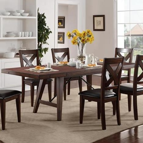 Crown Mark Sierra Transitional Dining Table | Wayside Furniture ...