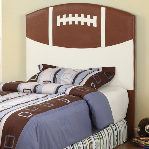 Crown Mark Sport Themed Twin Football Sports Headboard