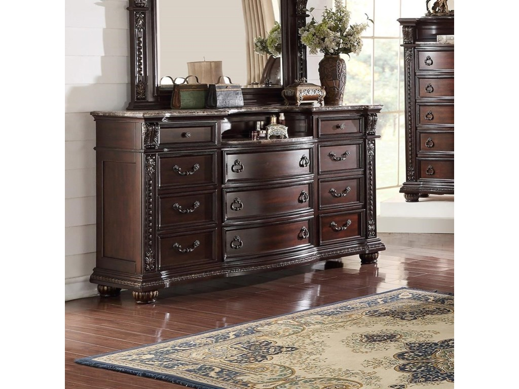 Crown mark stanley bedroom traditional dresser