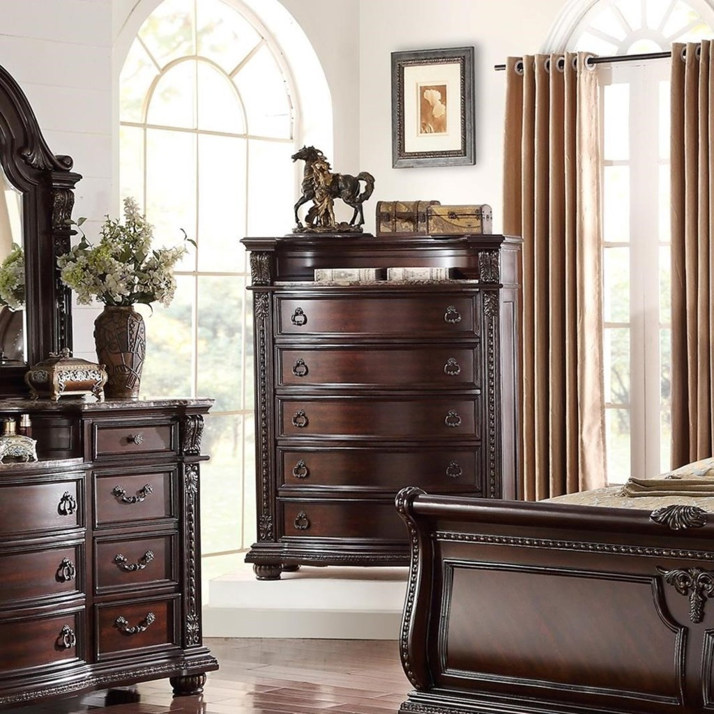 Crown Mark Stanley Bedroom Traditional Chest of Drawers