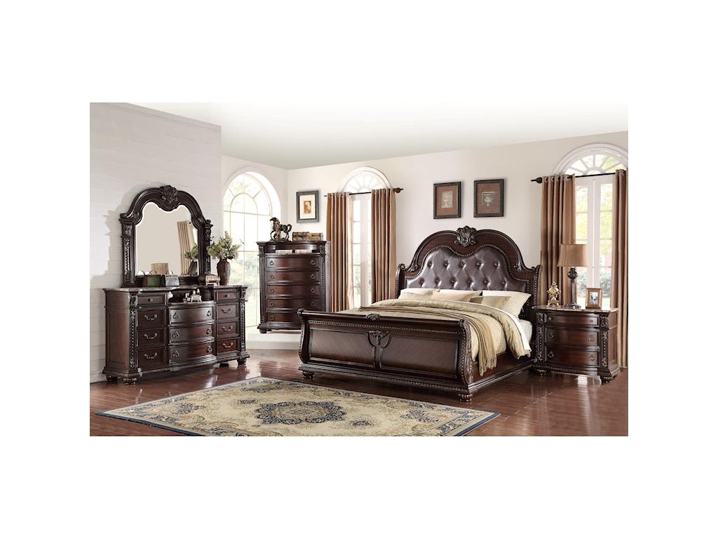 Crown Mark Stanley BedroomQueen Panel Bed