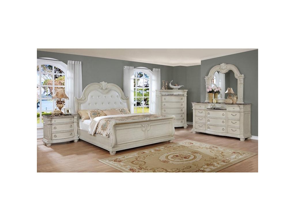 Crown Mark Stanley 6-Piece Bedroom Group | Royal Furniture ...