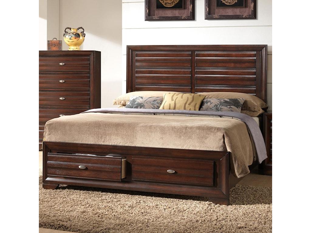 Crown Mark StellaQueen Storage Bed