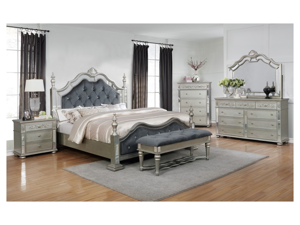 Crown Mark SterlingQueen Bedroom Group