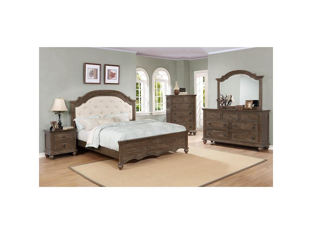 Crown Mark TaftonKing Bed