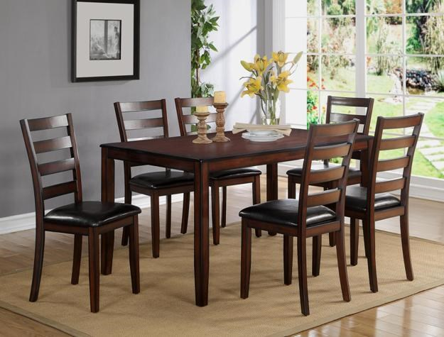 Crown Mark Tahoe Dining Table With 6 Side Chairs