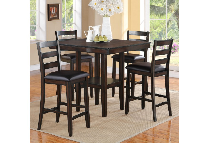 Tahoe 5 Piece Counter Height Table