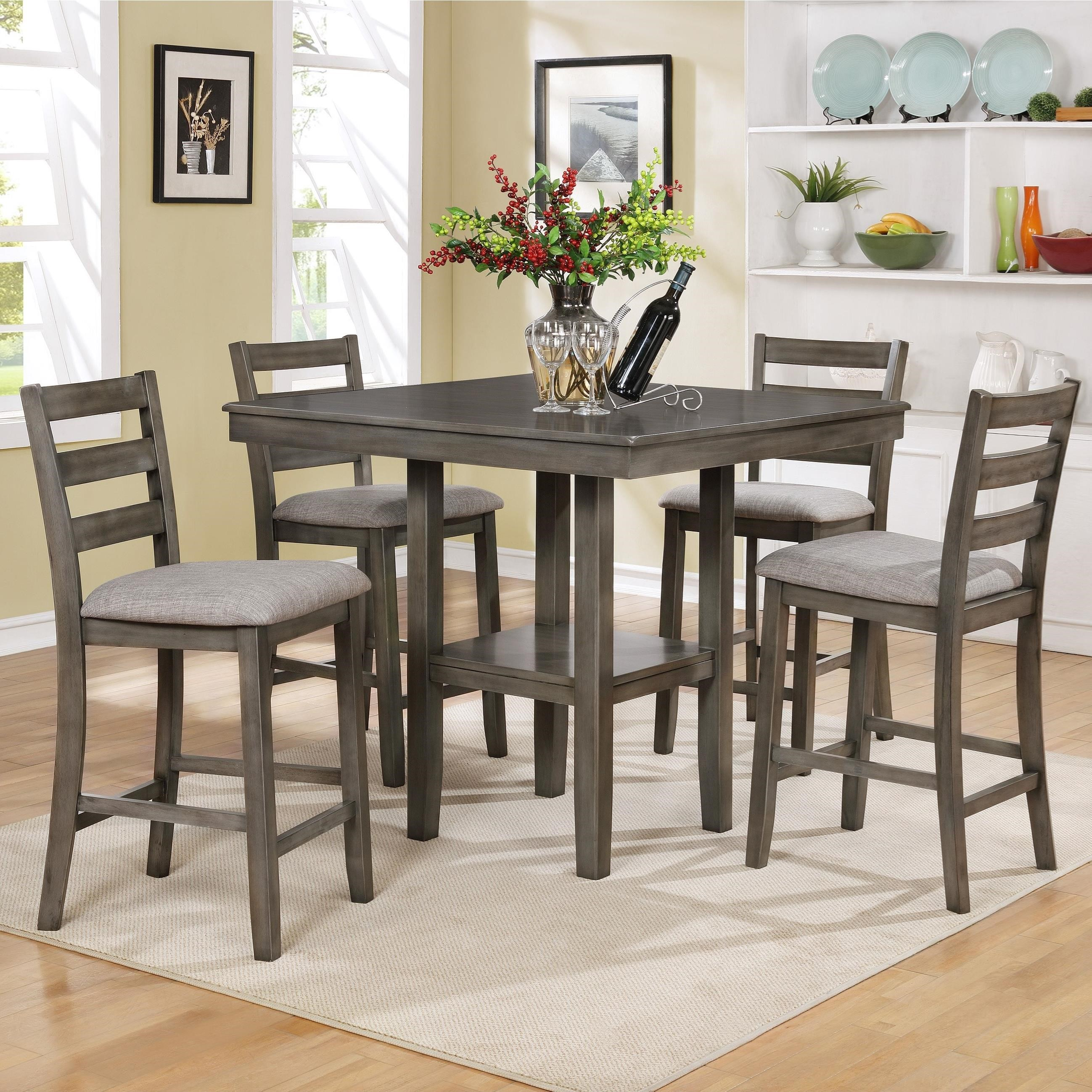 Crown Mark Tahoe5 Piece Counter Height Table and Chairs Set ...  sc 1 st  Royal Furniture & Crown Mark Tahoe 5 Piece Counter Height Table and Chairs Set | Royal ...