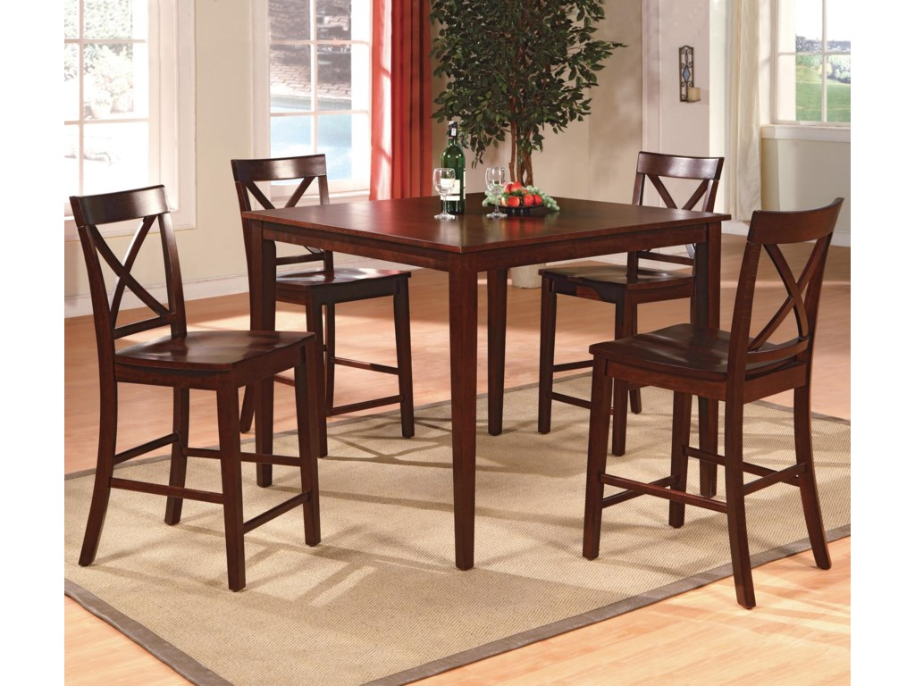 Crown Mark Theodore5-Piece Counter Height Table Set