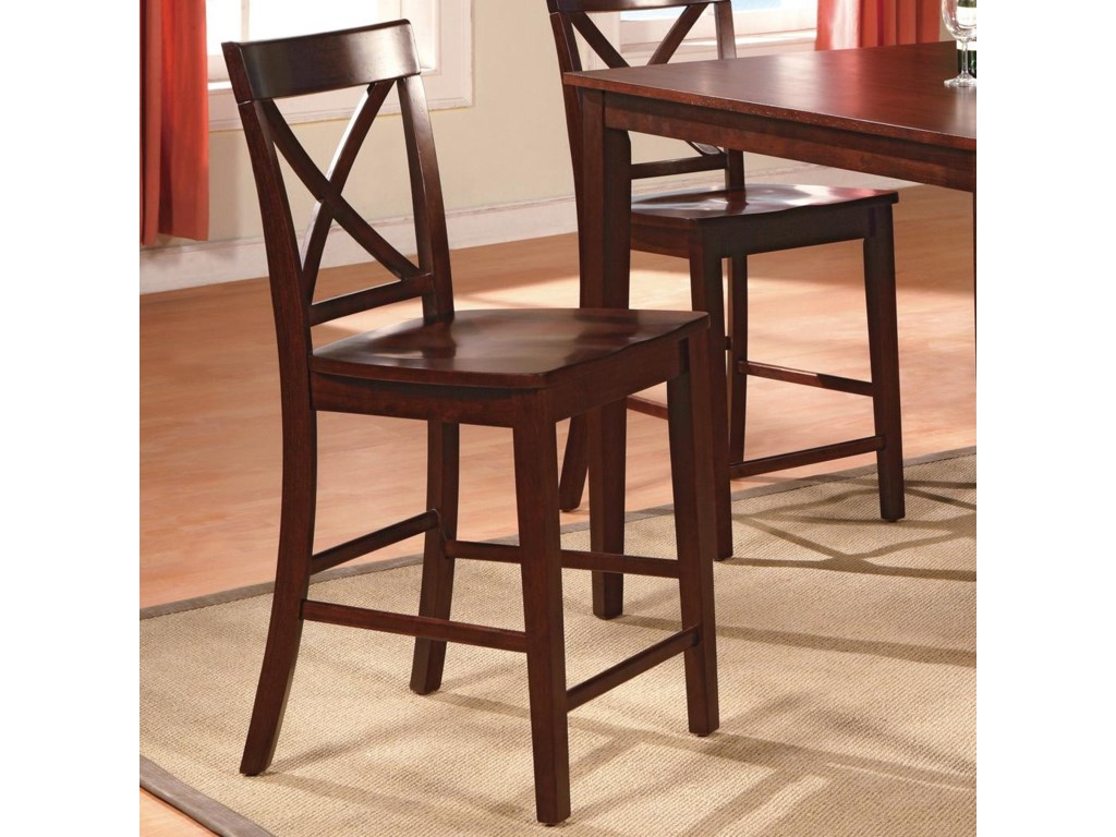 Crossback Counter Height Stool