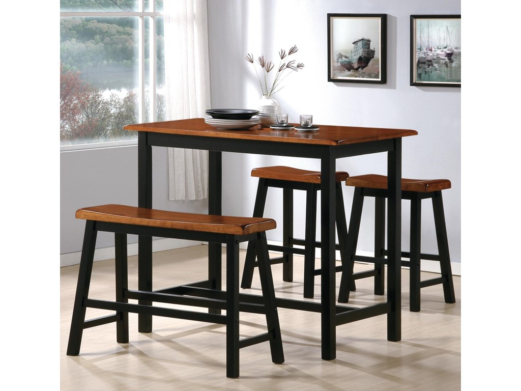 Crown Mark Tyler4 Piece Counter Height Table Set