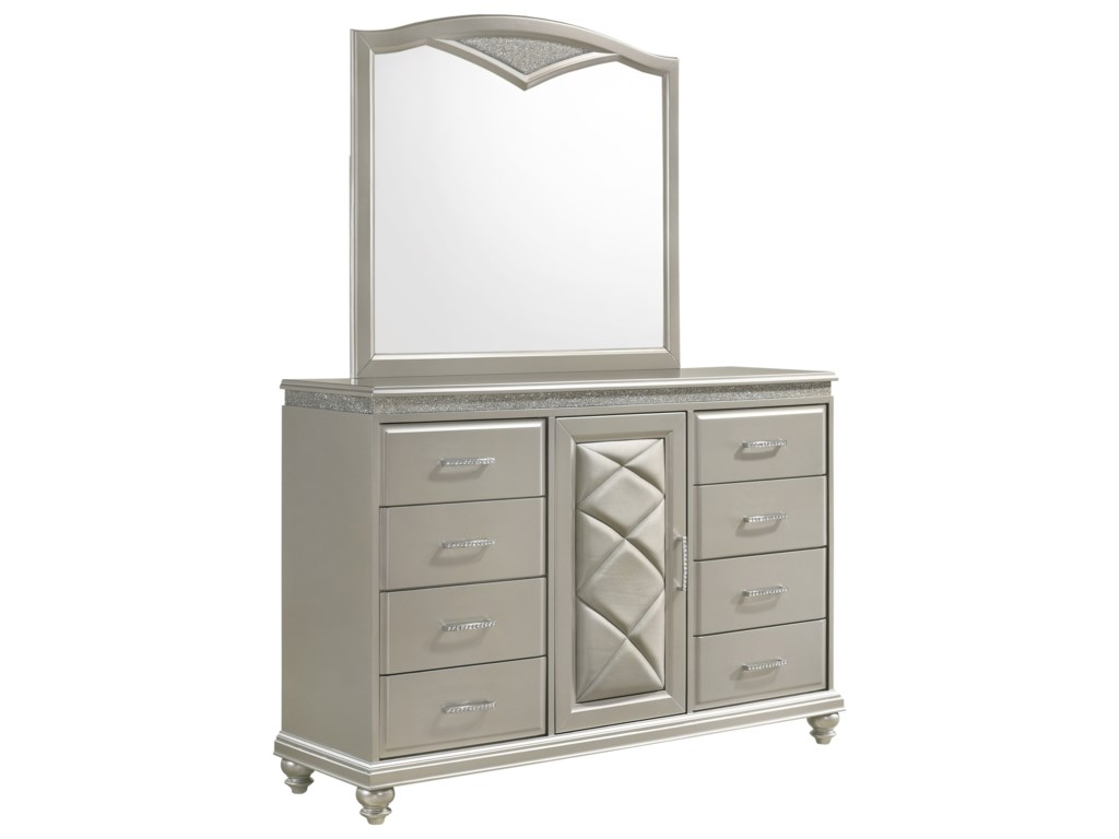 Crown Mark VALIANTDresser and Mirror Set
