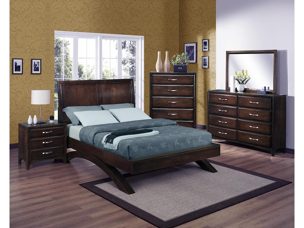 Crown Mark Vera Queen Bedroom Set | Miskelly Furniture | Bedroom Group