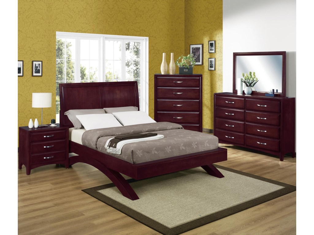 Shown with Coordinating Chest, Night Stand, and Platform Bed