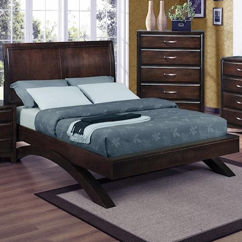 Crown Mark Vera King Platform Bed Lindy S Furniture Company