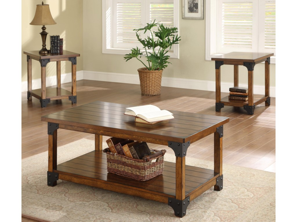 Crown Mark William3 Pc- Coffee & 2 End Tables