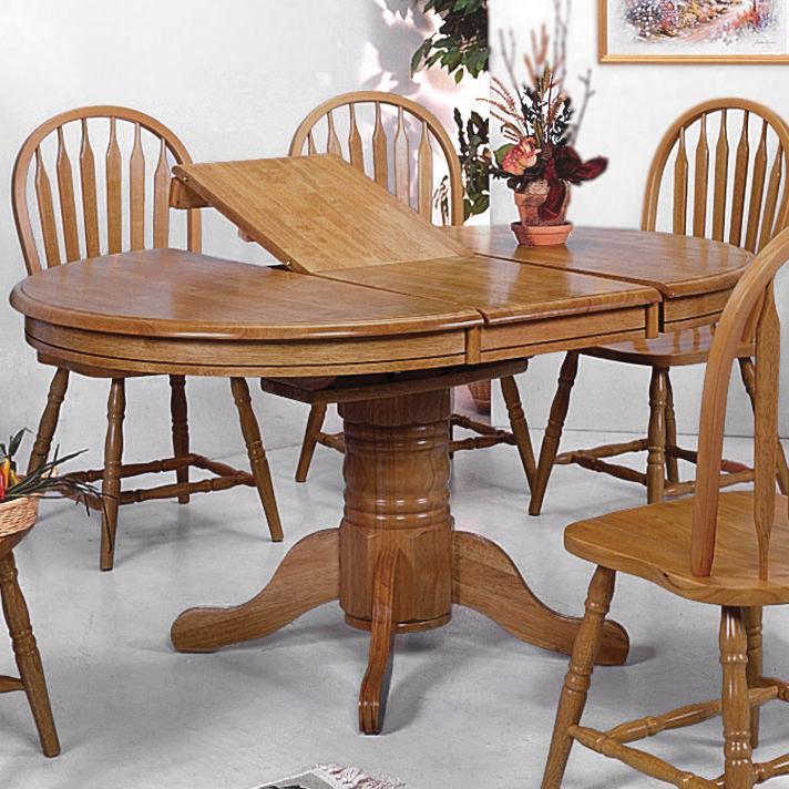 Crown Mark Windsor Solid Oval Pedestal Dining Table Part 10