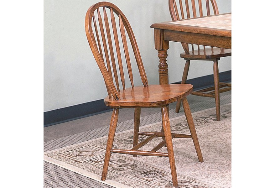 Windsor Solid Dark Oak Side Chair