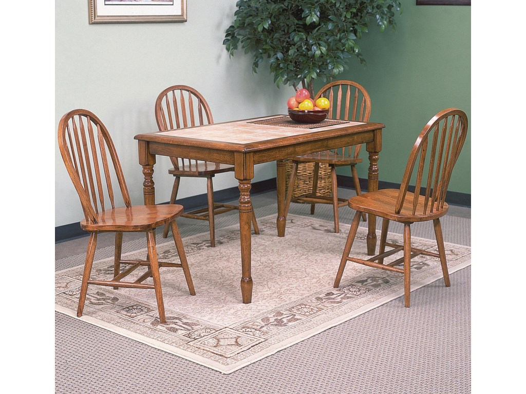 Crown Mark Windsor SolidDark Oak Side Chair