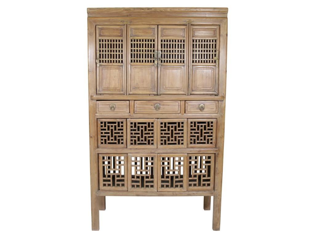 C.S. Wo & Sons Antiques  Kitchen Cabinet