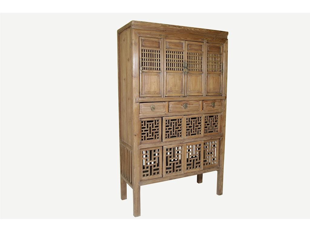 C.S. Wo & Sons Antiques  Kitchen Cabinet