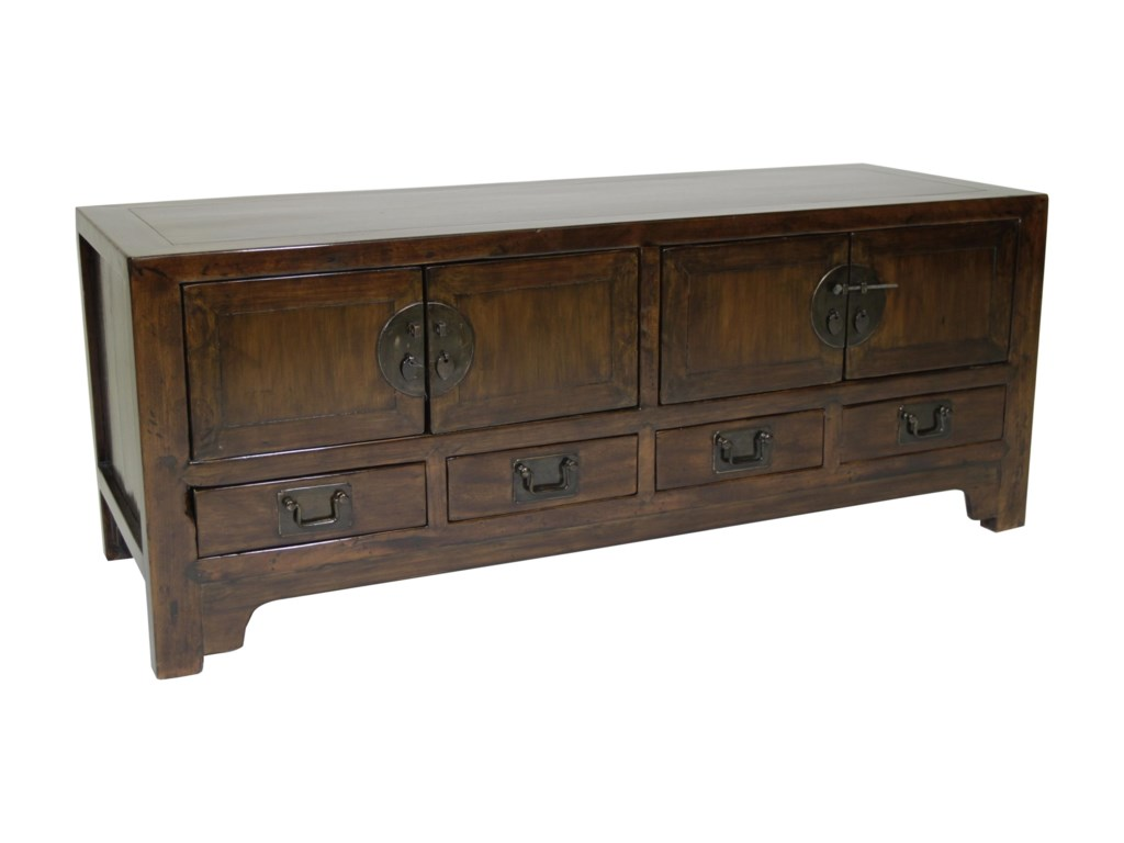 C.S. Wo & Sons Antiques  Low Side Cabinet