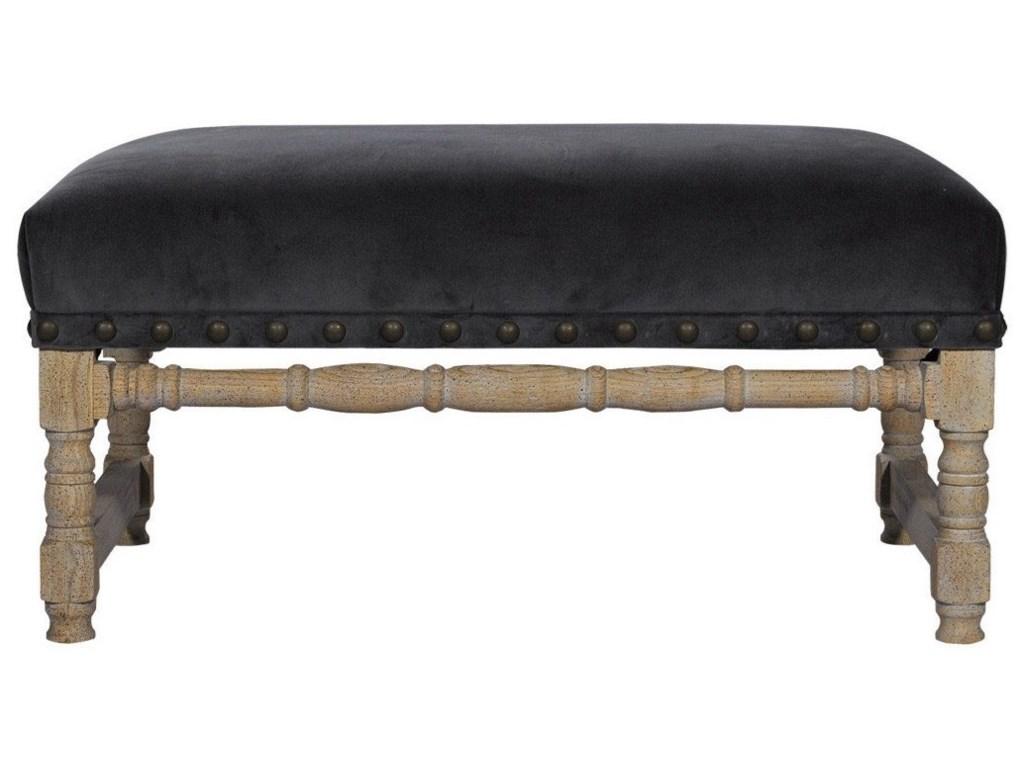 Curations Limited AntwerpenSlate Velvet Bench
