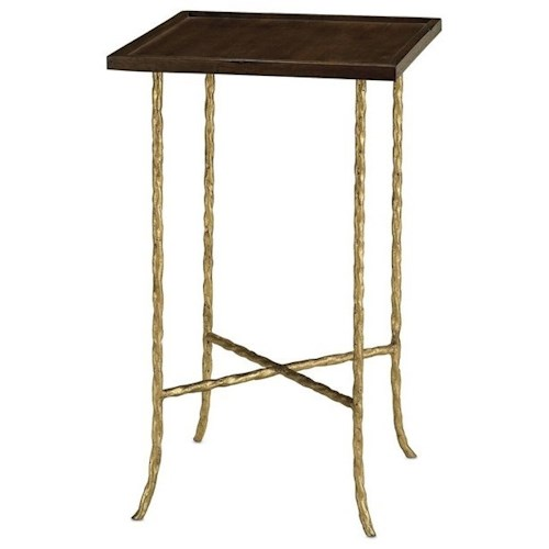 Currey & Co Accent Tables Transitional Accent Table