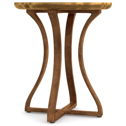 Cynthia Rowley for Hooker Furniture Cynthia Rowley - Curious Gold Bois Round Accent Table