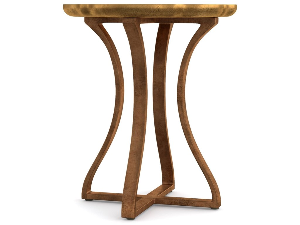 Cynthia Rowley for Hooker Furniture Cynthia Rowley - CuriousGold Bois Round Accent Table