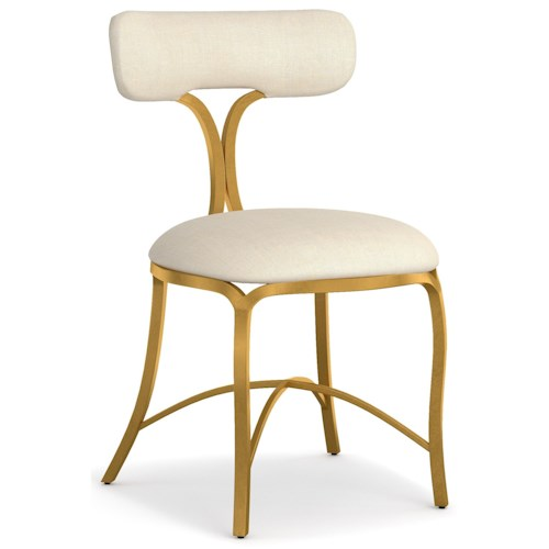 Cynthia Rowley for Hooker Furniture Cynthia Rowley - Curious Swanson Upholstered Metal Side Chair