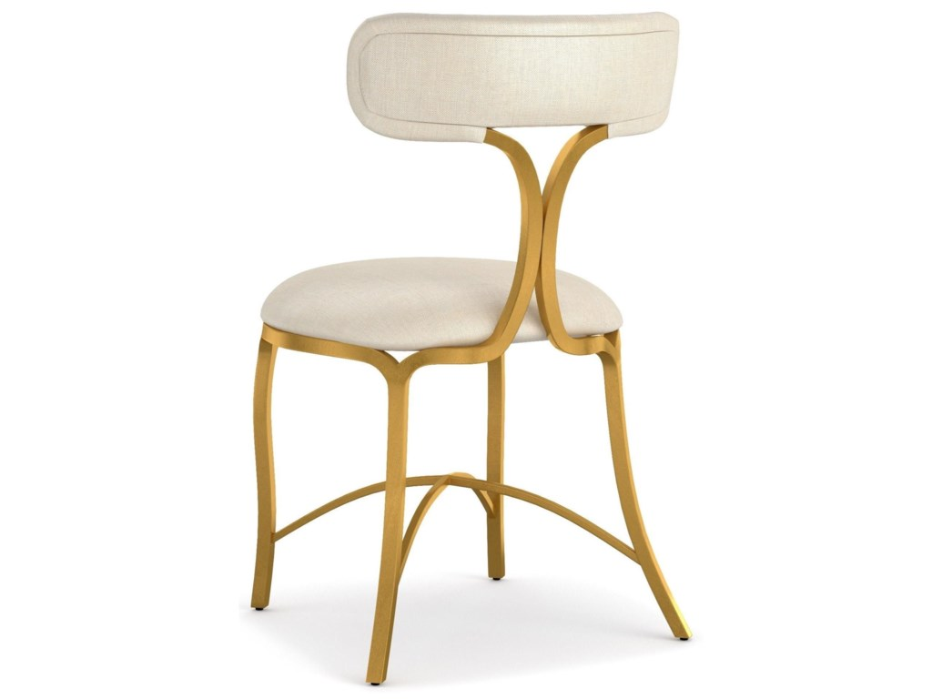 Cynthia Rowley for Hooker Furniture Cynthia Rowley - CuriousSwanson Upholstered Metal Side Chair