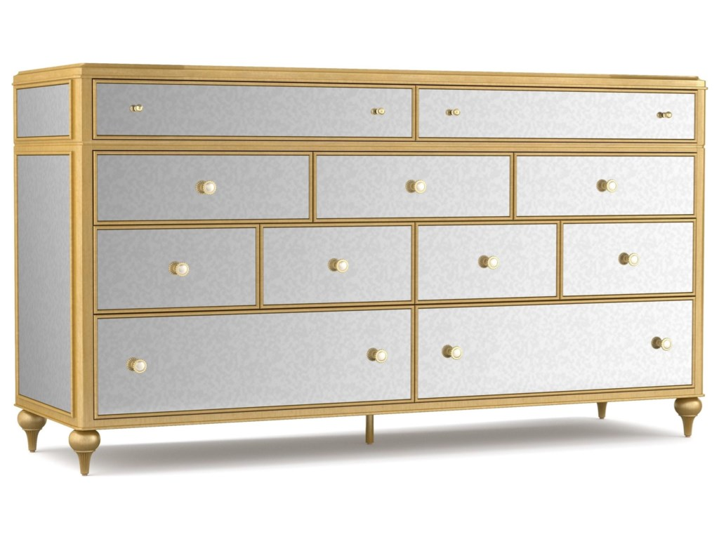 Cynthia Rowley for Hooker Furniture Cynthia Rowley - CuriousBewitch Nine-Drawer Mirrored Dresser