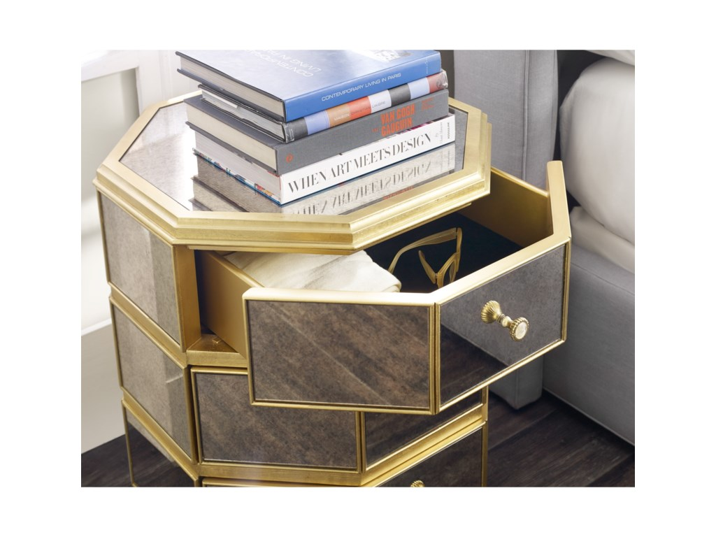Cynthia Rowley for Hooker Furniture Cynthia Rowley - CuriousBewitch Mirrored Octagonal Nightstand