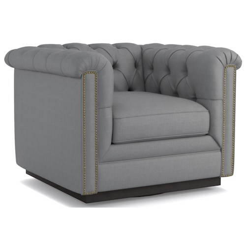 Cynthia Rowley for Hooker Furniture Cynthia Rowley - Curious Upholstery Wallis Swivel Chair