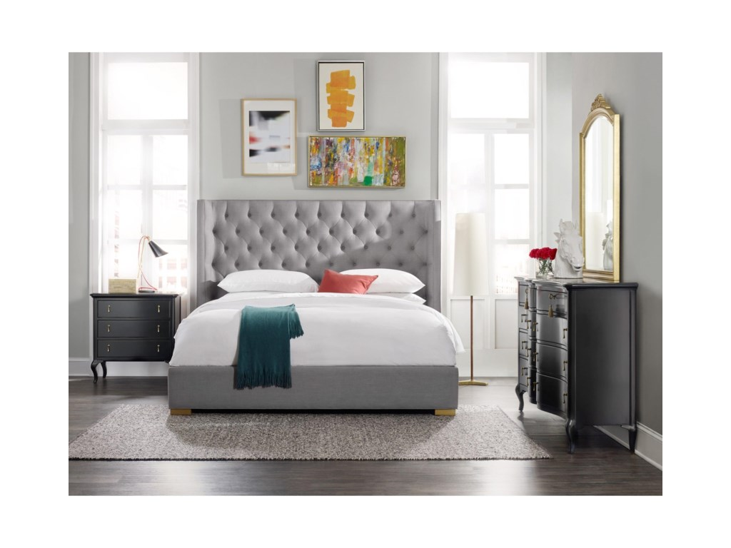 Cynthia Rowley for Hooker Furniture Cynthia Rowley - Curious UpholsteryAstor Queen Bed Complete